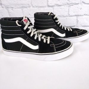 Vans SK8 HI Black and White High Top Sneakers 10
